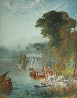 A Classical Lake Scene (Carthage)