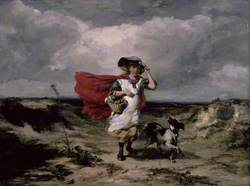 Crossing the Heath, Windy Day