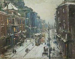 Lancaster Road in Snowy Weather