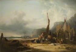 Coast Scene with Shipping