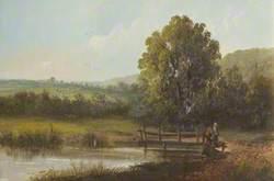 Landscape with Figures and Footbridge