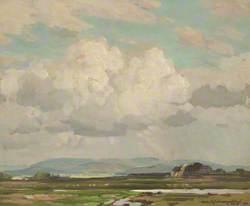 Moorland, Distant Hills