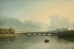 Lancaster from the River with Skerton Bridge