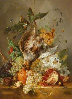 Still Life with Dead Bird, Fruit and Flowers