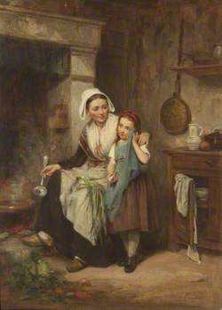 Mother and Daughter in Domestic Interior