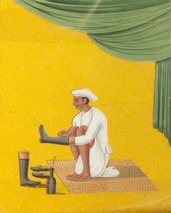 Indian Servant with Boots