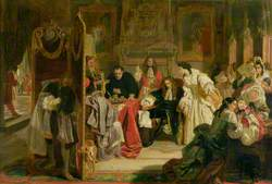King James Receiving News of the Landing of William of Orange