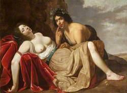Shepherd and Sleeping Girl