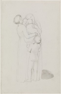 Two Women Hold between Them Two Babies