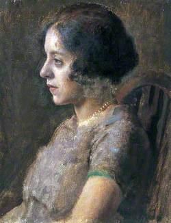Portrait of a Woman Wearing a Pale Mauve Dress