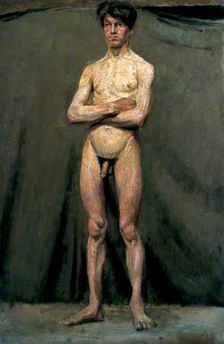 Male Figure Standing with Arms Folded