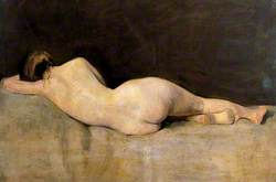 Female Figure Lying on a Couch