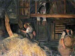 Workers: Workmen Bagging Hops