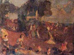 Beach Scene with Figures