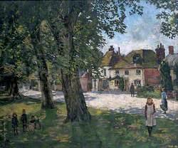 Village Green with Children