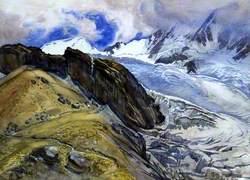 The Fee Glacier and Alphubel