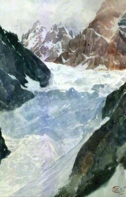 Icefall of the Tiu-Tiun Glacier