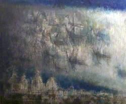 Rain over Benares, India