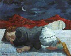 Boy Sleeping under the Moon