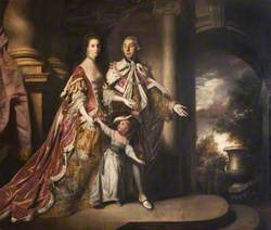 The Earl and Countess of Mexborough with Their Son, Lord Pollington (1719–1778)