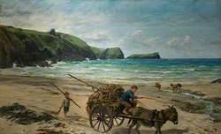Carting for Farmer, Pengelly, Cornwall