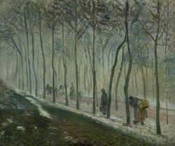 La route, effet de neige