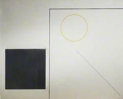 Painting, Relief with Aluminium Square
