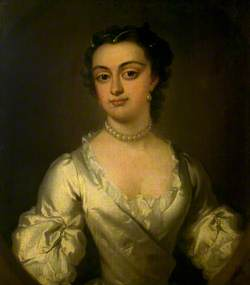 Portrait of a Lady in White Satin