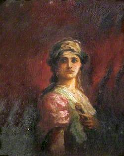 Portrait of an Unknown Lady in Continental Dress