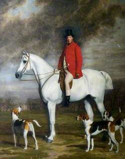 Lord Kesteven on a Horse, with Hounds