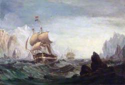 The Expedition Entering Baffin Bay in Search of John Franklin