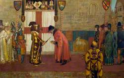 Richard II Presenting the Sword to the Mayor of Lincoln, 1386