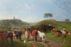 Gypsy Encampment with Horses and Cattle