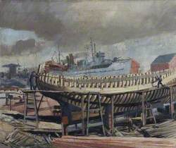Ship Building, Grimsby Docks, Lincolnshire