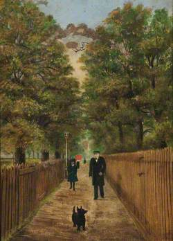 Crows Walk, Bruce Grove, with the Station Master in 1880