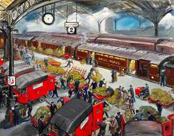 Euston Station: Loading the Travelling Post Office