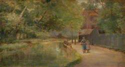 New River, Enfield, with Figures