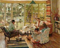 The Burleigh Family Taking Tea at Wilbury Crescent, Hove