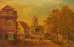 View of Church Street, Hackney, Looking North from Houses to the South of Hackney Brook, 1725