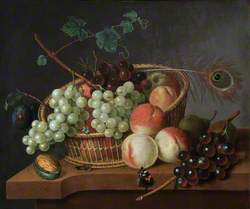Still Life: Grapes and Peaches in a Basket