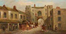 St John's Gate from the North with a Coach and Horses