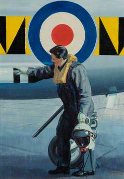 Lightning Pilot Inspecting the Armament before Take-Off