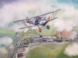 Hawker Hart Over Pre-War Hendon