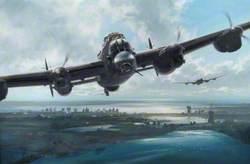 Lancasters over the Dutch Coast