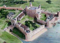 Artist's Impression of the Tower of London Site, 1200