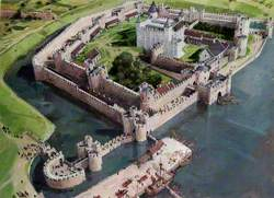 Artist's Impression of the Tower of London Site, 1300