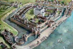 Artist's Impression of the Tower of London Site, 1547