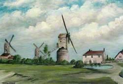 The Three Mills, Chadwell Heath, 1810