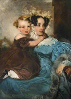 Mrs Mary Linsdell (b.1805), with Her Son, Thomas (b.1835)