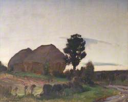 Haystacks, Evening